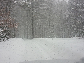 woodstock drive way winter 1